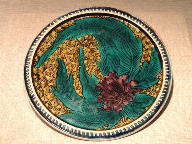 Kutani Ware Plate late 17th century Japan porcelain with enamel Art Institute of Chicago DSC00224