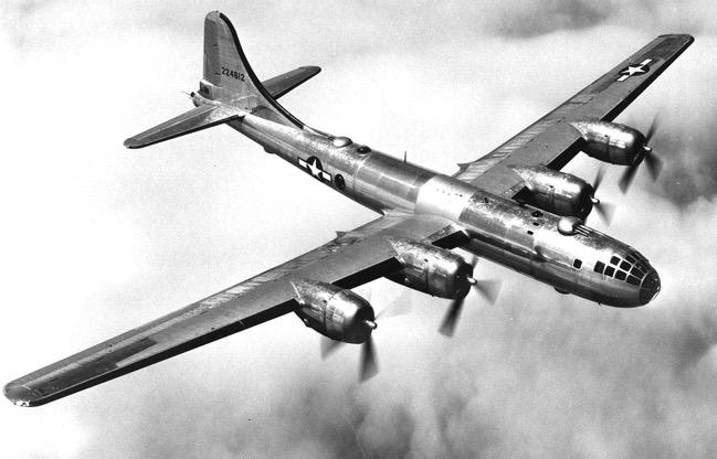 B 29 in flight